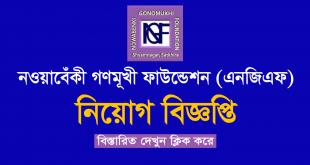 Nowabenki Gonomukhi Foundation Job Circular 2020 - www.ngf-bd.org