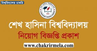 Sheikh Hasina University Job Circular 2020 - www.shu.edu.bd