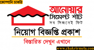 Anwar Cement Sheet Ltd Job Circular Apply 2020 - www.anwargroup.com