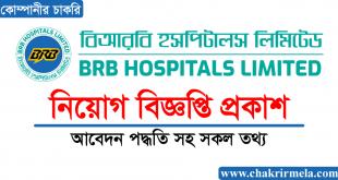BRB Hospitals Limited Job Circular 2021 - Chakrir Mela