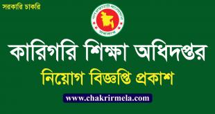 Directorate of Technical Education Job Circular 2021 । www.techedu.gov.bd