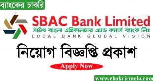 South Bangla Agriculture and Commerce Bank Job circular 2021 - www.sbacbank.com