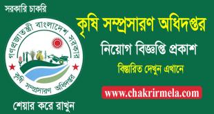 Department of Agricultural Extension Job Circular 2021 - www.dae.gov.bd