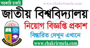 National University Job Circular 2021 – www.nu.ac.bd
