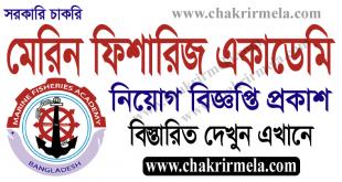 Marine Fisheries Academy Job Circular 2021 - macademy.portal.gov.bd